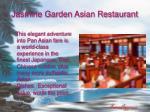 jasmine garden asian restaurant