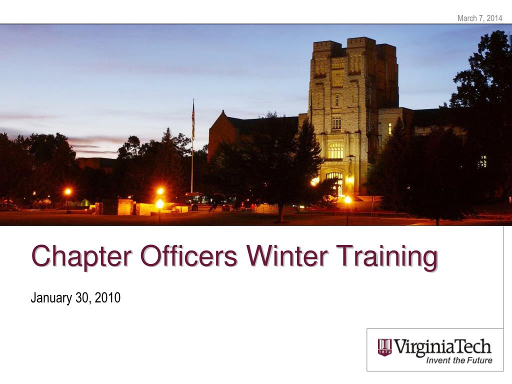 chapter officers winter training l.