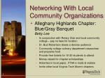networking with local community organizations