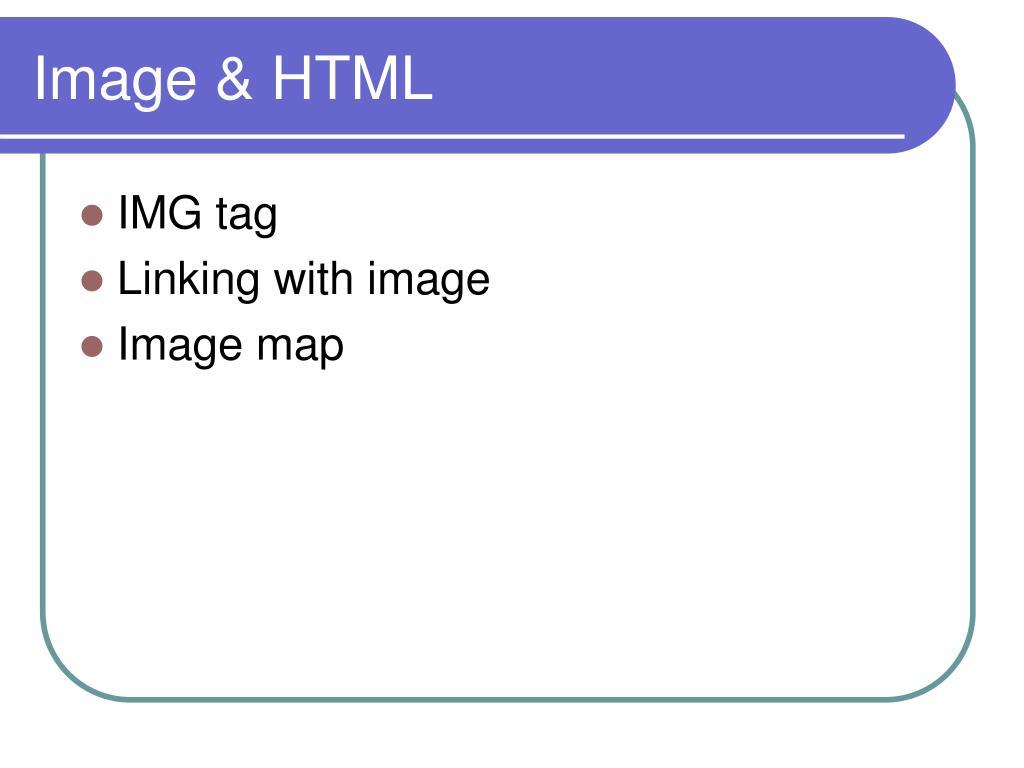 Image & HTML