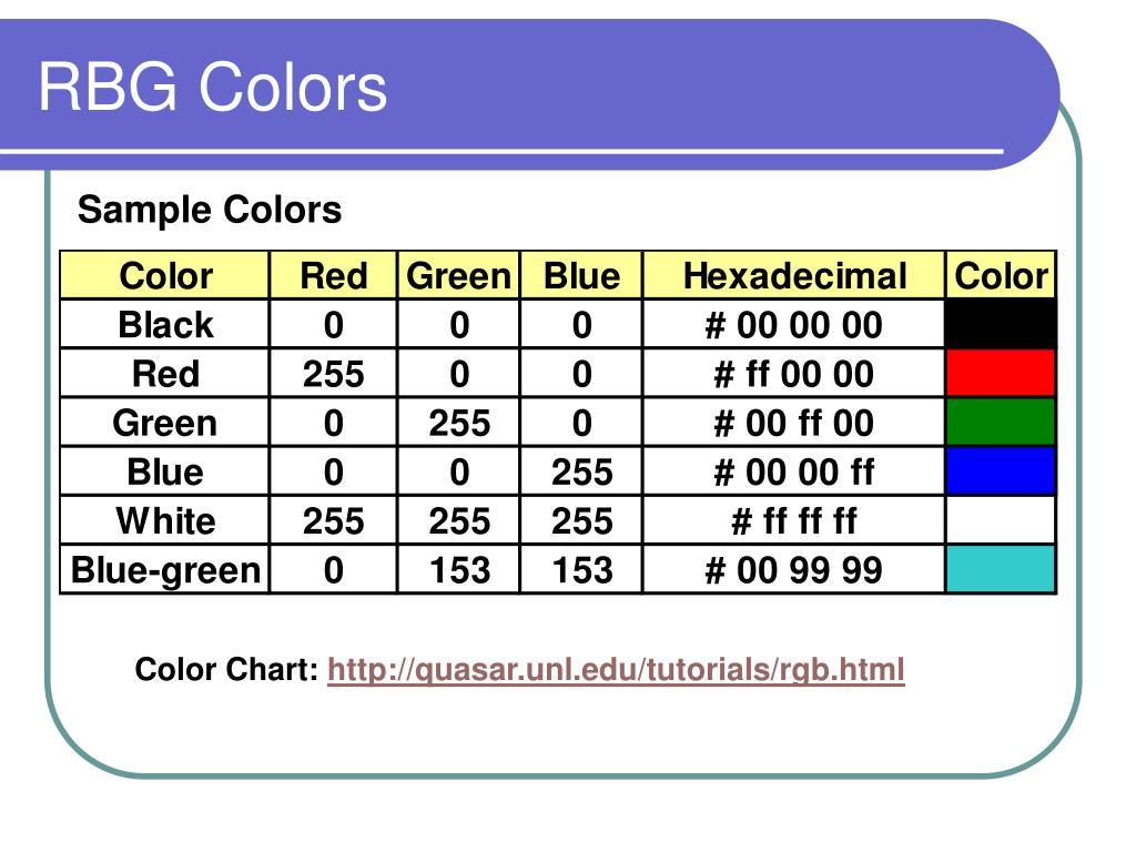 RBG Colors