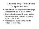 shooting images with plenty of space for text