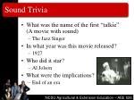 sound trivia