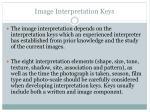 image interpretation keys