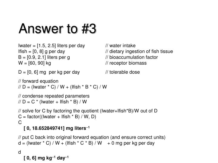 Answer to 3