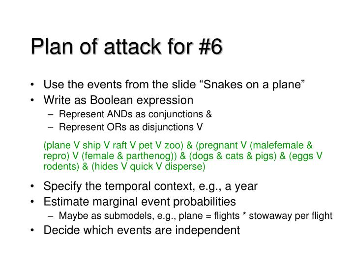 Plan of attack for #6