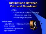 distinctions between print and broadcast