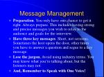 message management
