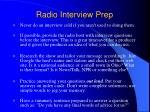 radio interview prep
