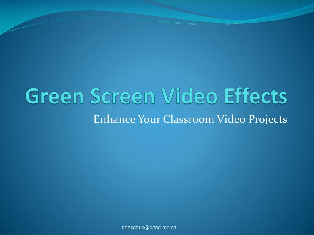 green screen video effects l.