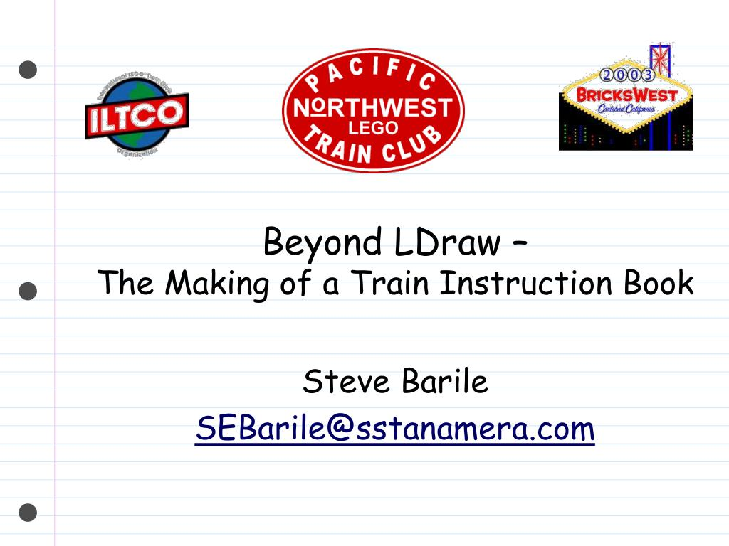 beyond ldraw the making of a train instruction book l.