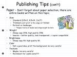 publishing tips con t