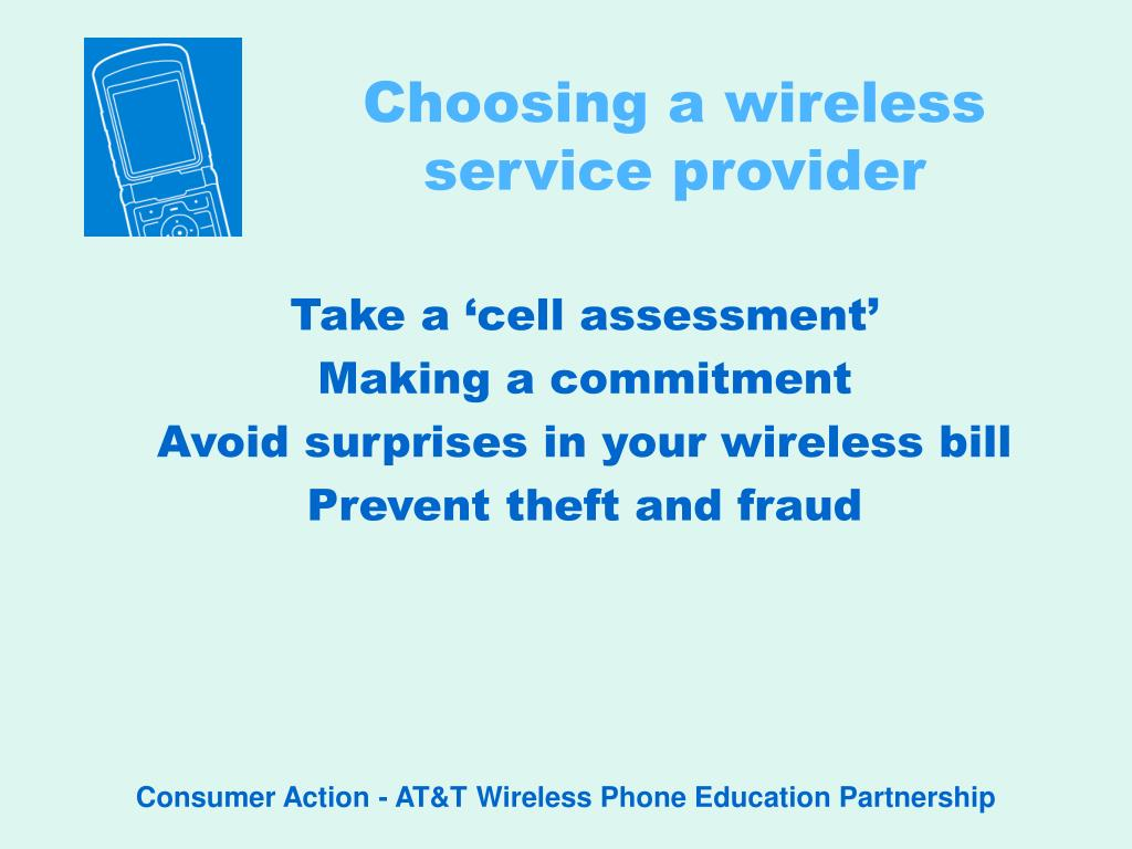 choosing a wireless service provider l.