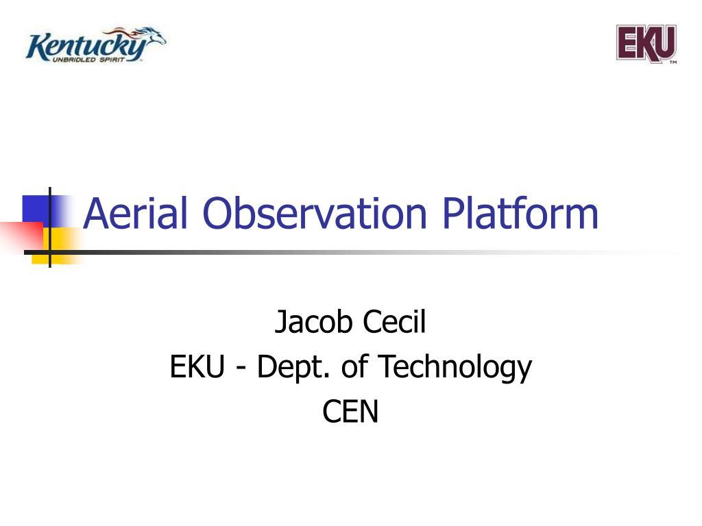 aerial observation platform l.