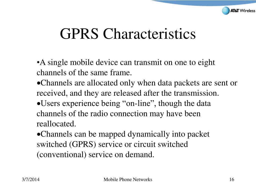 GPRS Characteristics