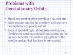 problems with geostationary orbits