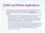soap and mobile applications