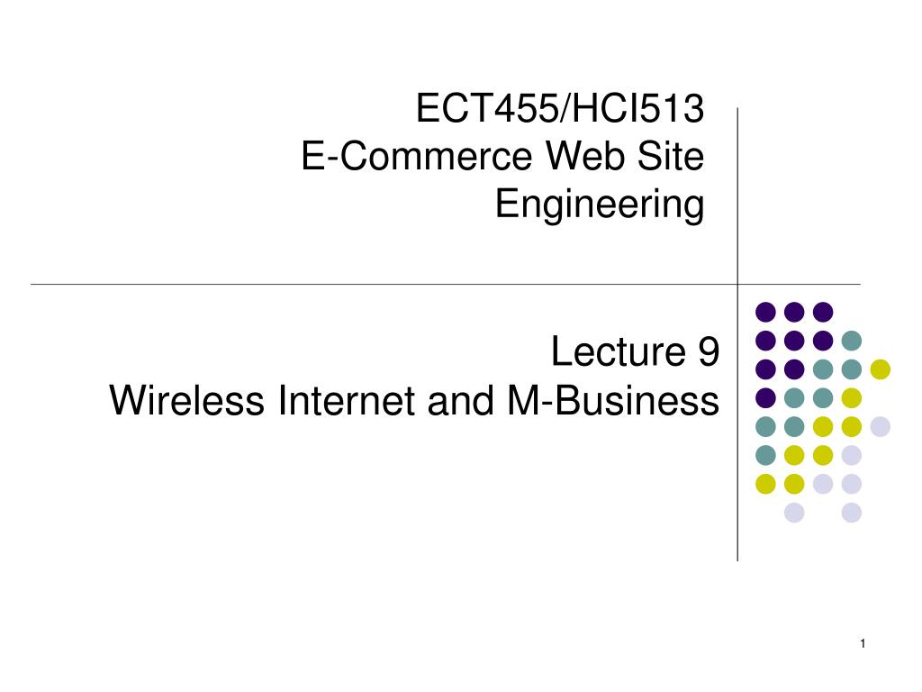 ect455 hci513 e commerce web site engineering l.