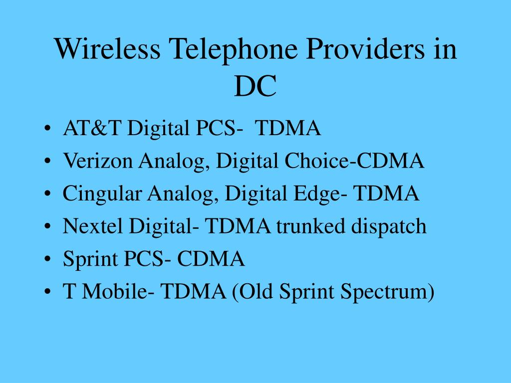 Wireless Telephone Providers in DC