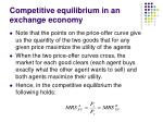 competitive equilibrium in an exchange economy17