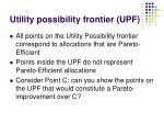 utility possibility frontier upf13