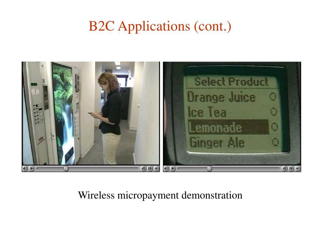 B2C Applications (cont.)