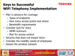 keys to successful wifi telephony implementation