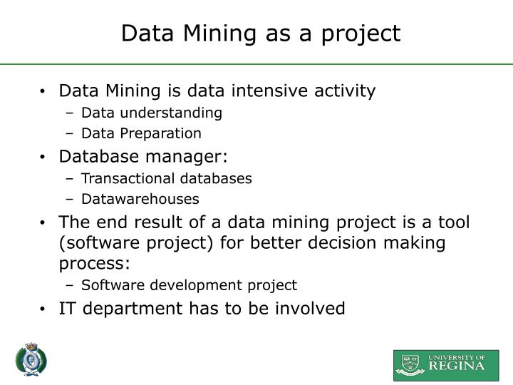 Data Mining as a project