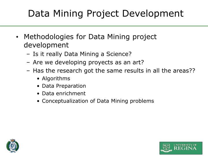 Data Mining Project Development