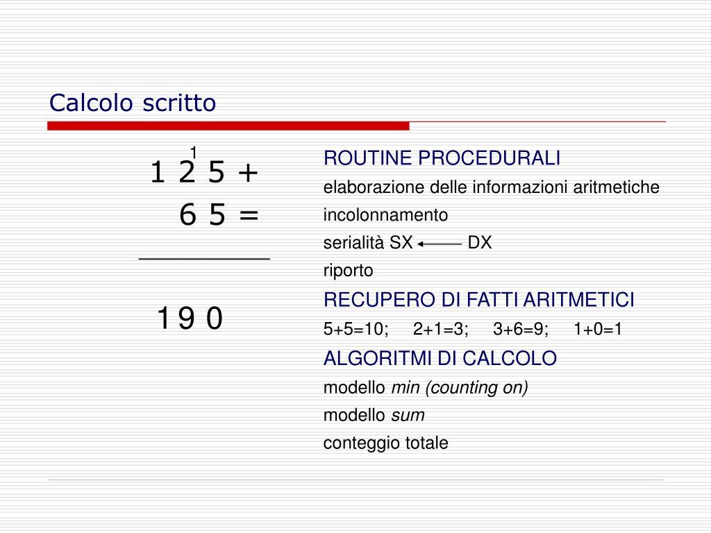 Calcolo scritto