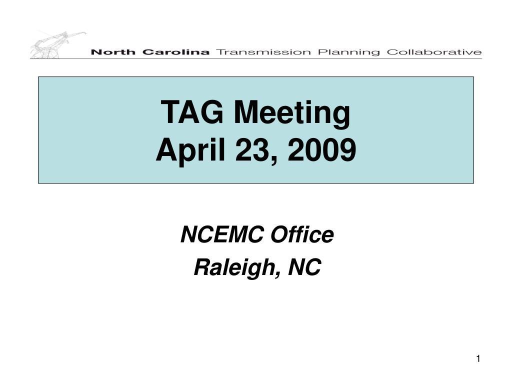 tag meeting april 23 2009 l.
