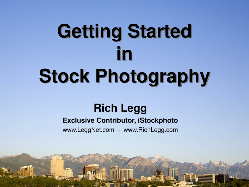 getting started in stock photography l.