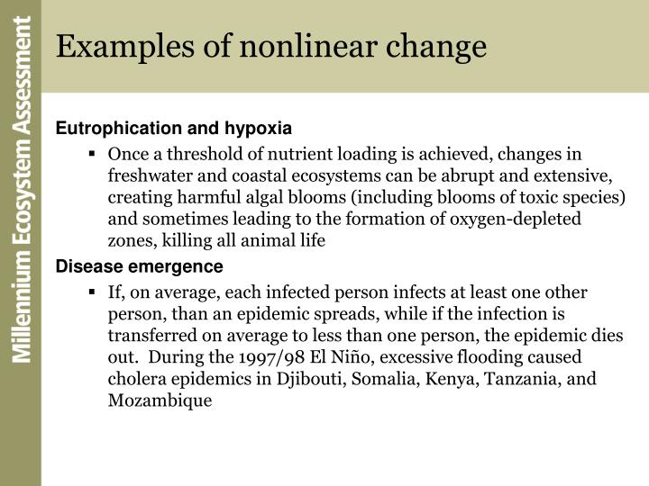Examples of nonlinear change