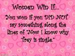 women win if