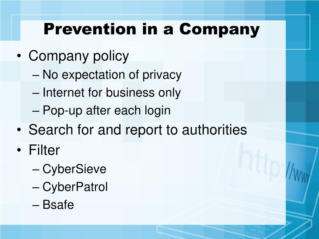 Prevention in a Company