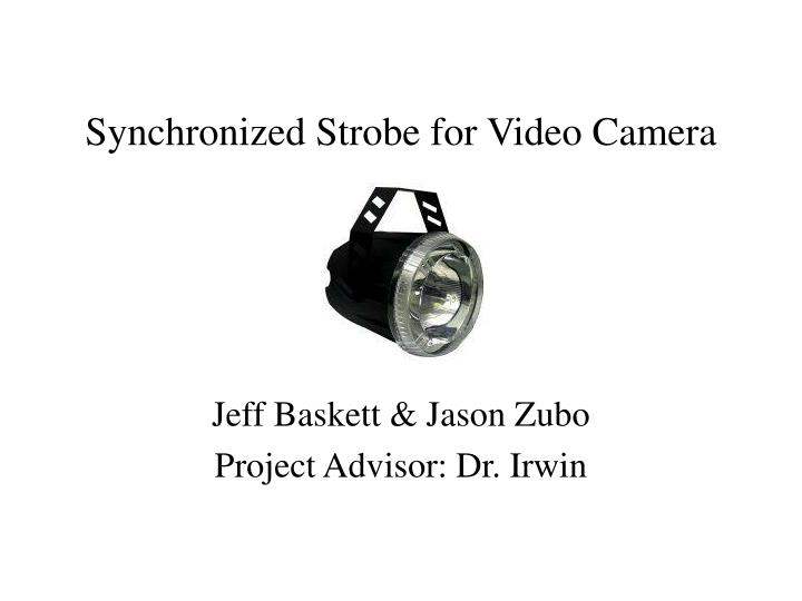 Synchronized strobe for video camera