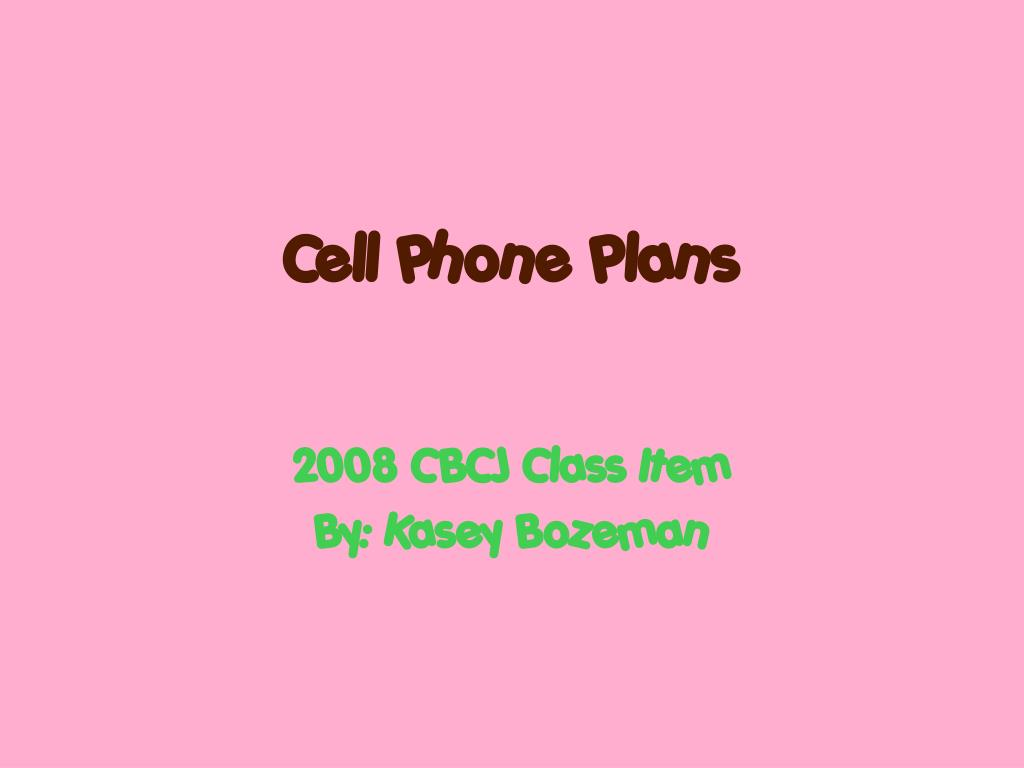 cell phone plans l.