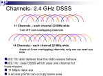 channels 2 4 ghz dsss