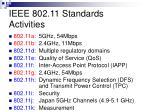 ieee 802 11 standards activities
