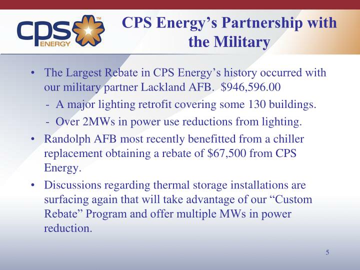 CPS Energy's Partnership with the Military