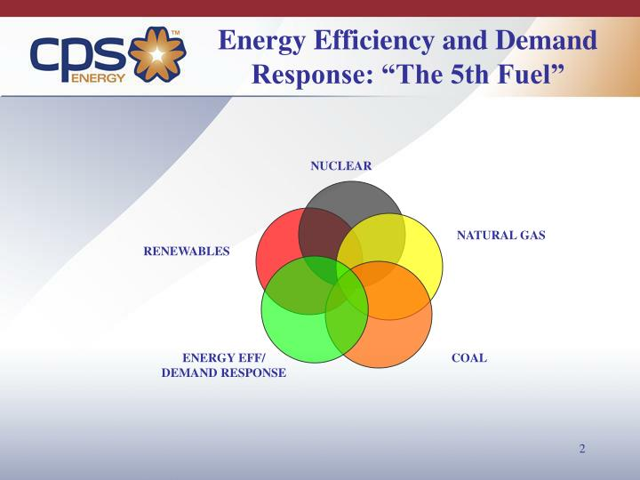 """Energy Efficiency and Demand Response: """"The 5th Fuel"""""""