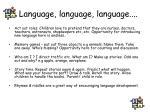 language language language