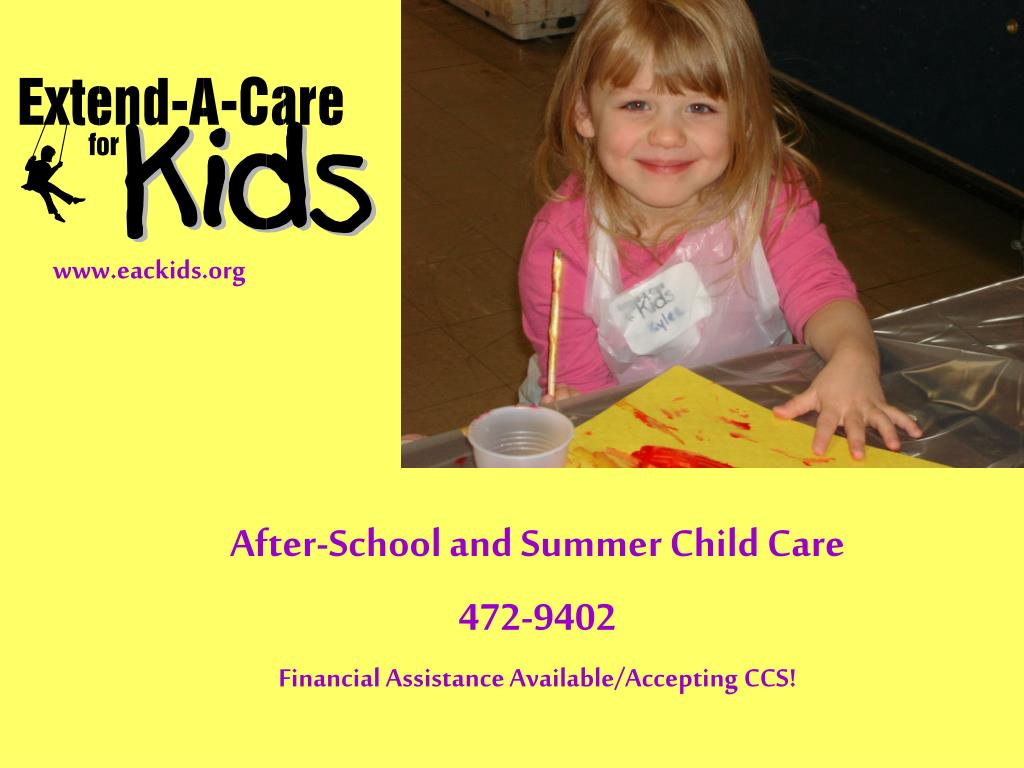 after school and summer child care 472 9402 financial assistance available accepting ccs l.