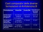 costi comparativi delle diverse formulazioni di amfotericina b