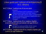 linee guida per l utilizzo di amfotericina b a o verona