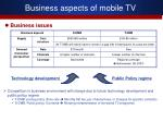business aspects of mobile tv