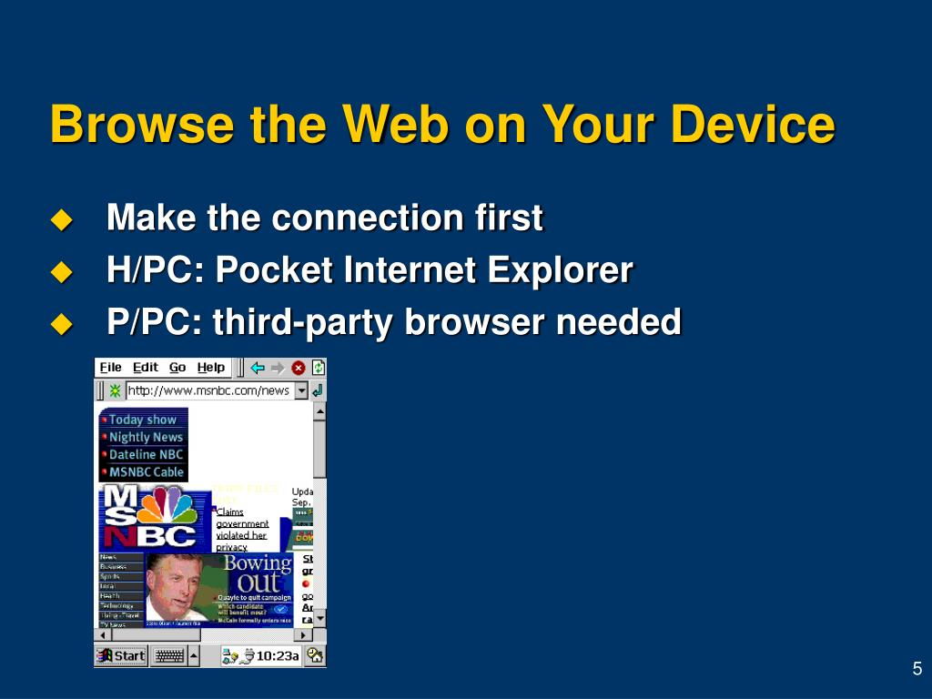 Browse the Web on Your Device