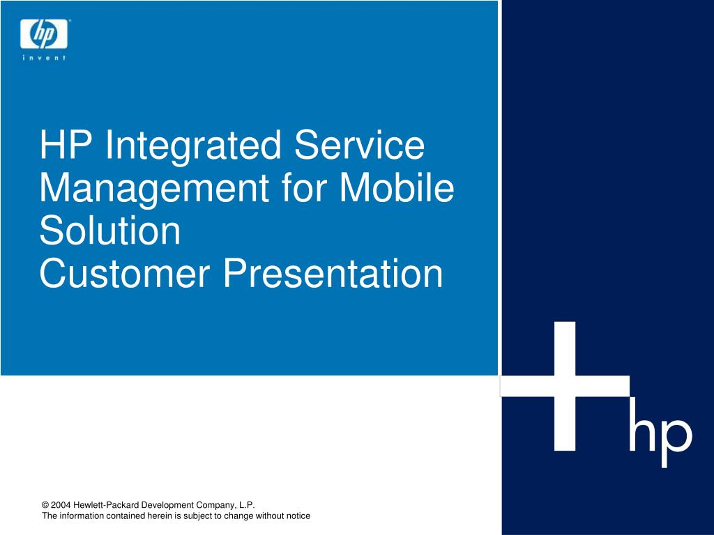 hp integrated service management for mobile solution customer presentation l.