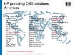 hp providing oss solutions americas