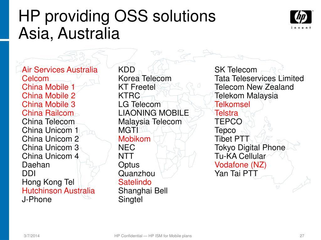 HP providing OSS solutions